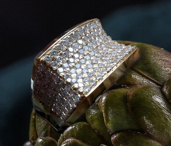 Men's Concave Style Diamond Ring