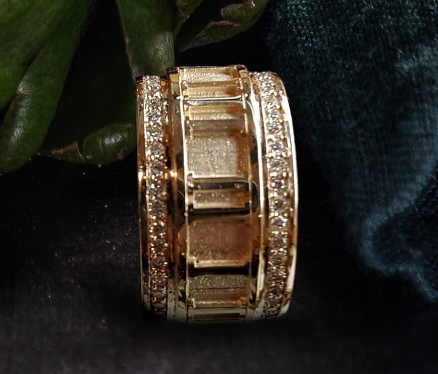 Buy Men's Contemporary Design Diamond Accent Pave Wedding ...