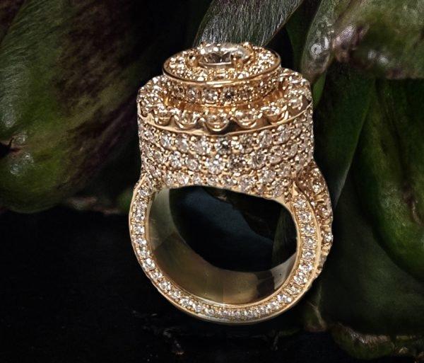 Micropave Diamond Ring