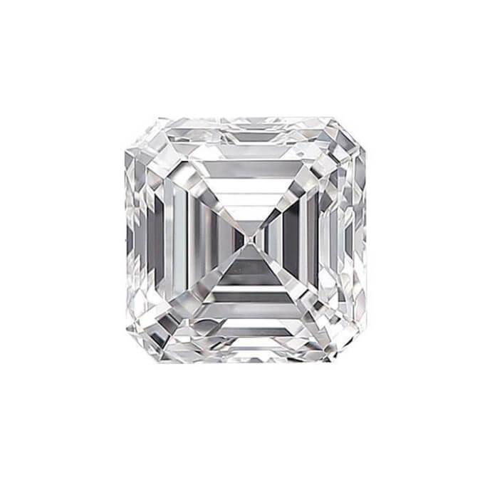 Asscher Diamond Cut Sidestone