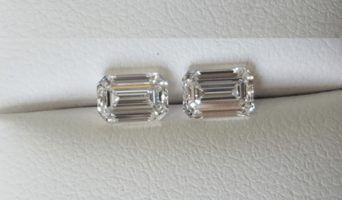 Emerald Cut Diamond Pairs F1237