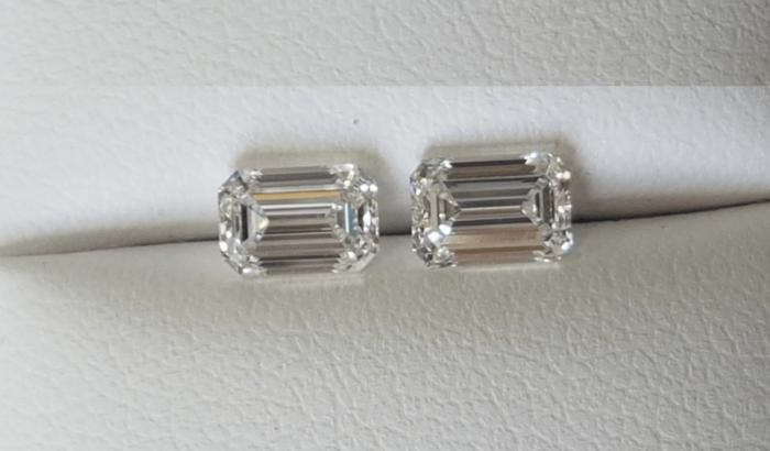 Emerald Cut Diamond Pairs F1237