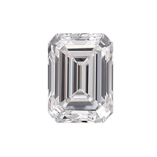 Emerald Diamond Cut Sidestone