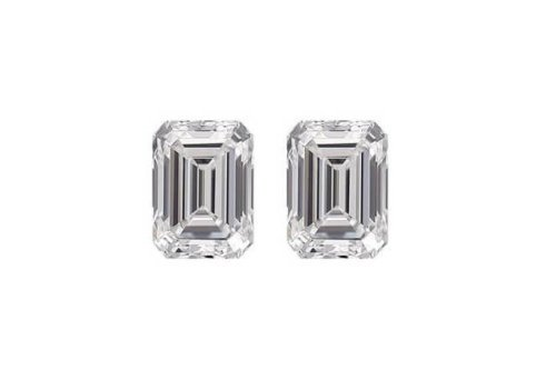 Emerald Diamond Cut Pair