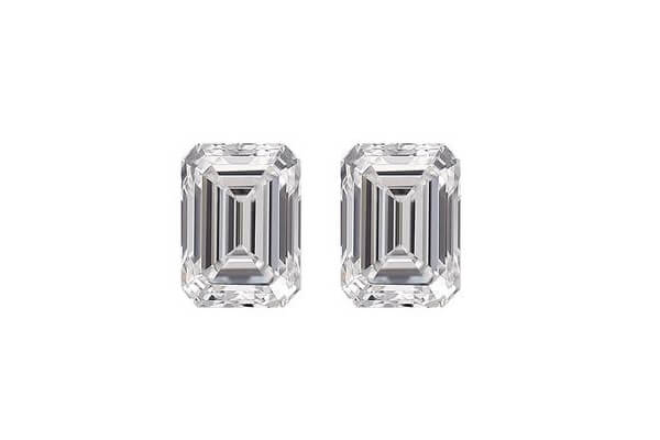 Emerald Diamond Cut Pair
