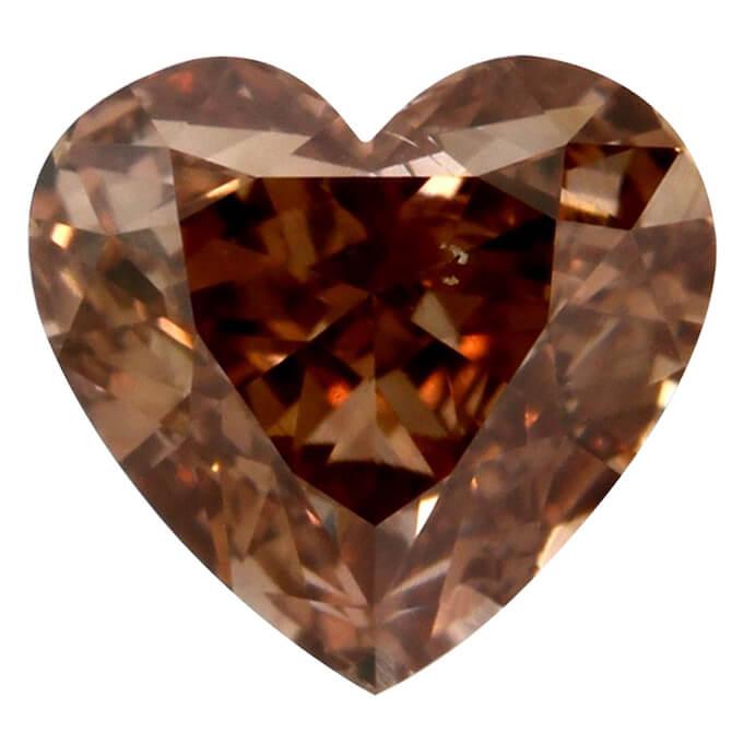 Fancy Brown Orange Heart