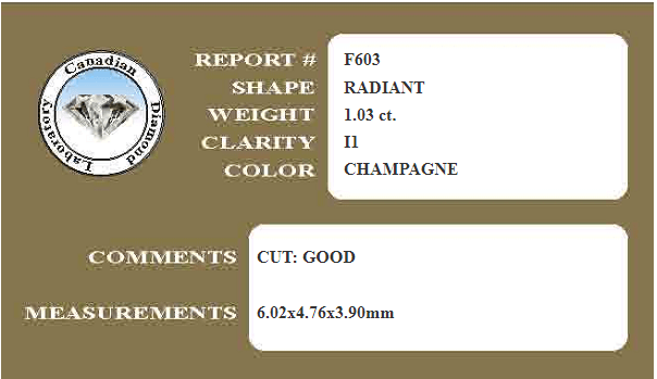 Fancy Champagne Radiant Cut