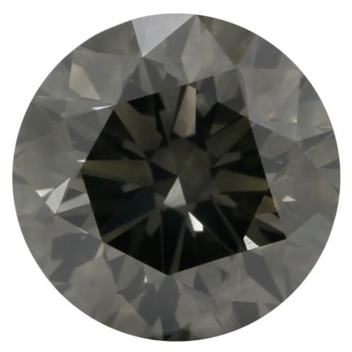 Natural Black Round Diamond