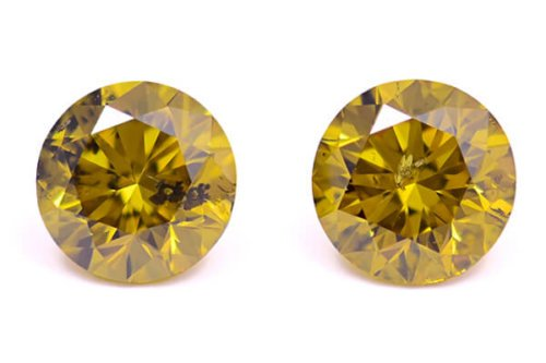 Fancy Deep Brownish Greenish Yellow Round Copy