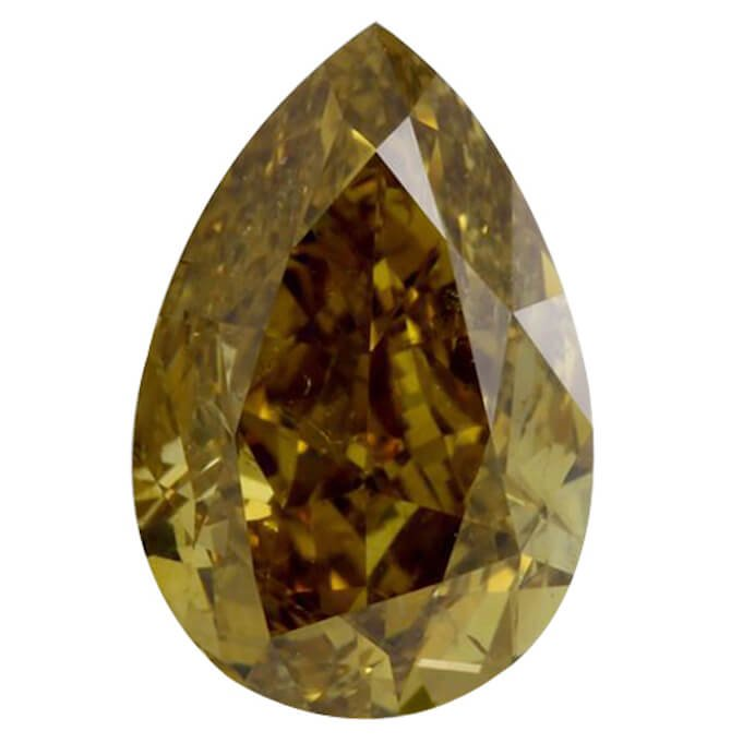 Fancy Deep Brownish Yellow Pear