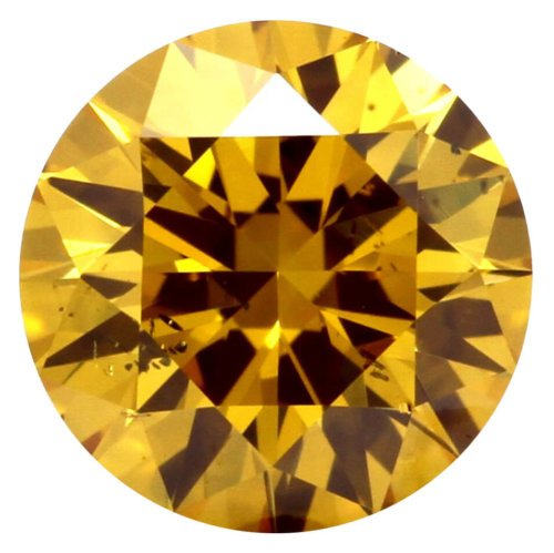 Fancy Deep Orangy Yellow Round