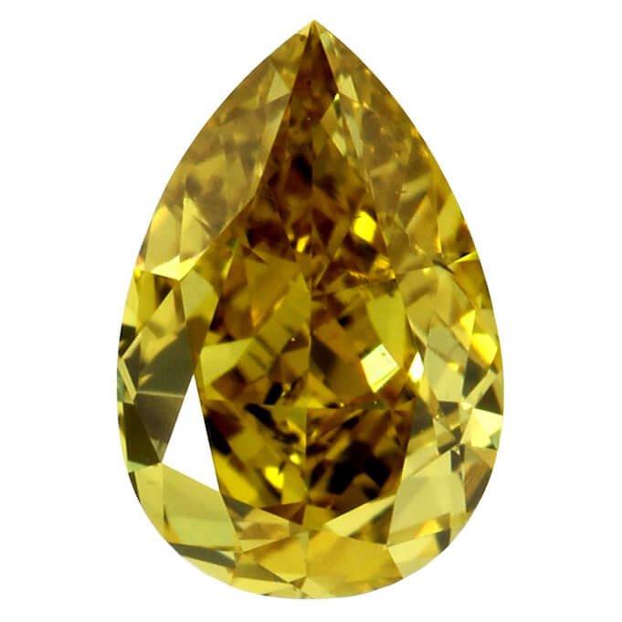 Fancy Deep Yellow Pear