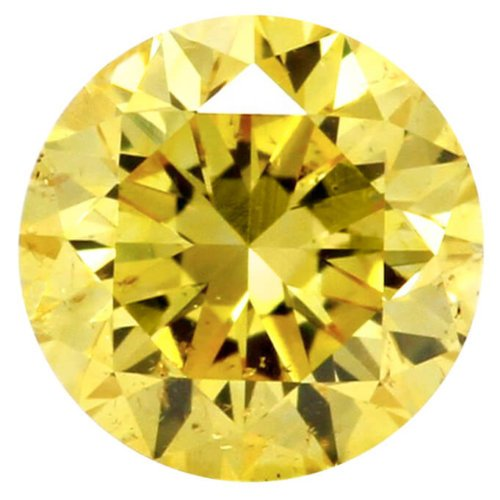 Fancy Vivid Yellow Round