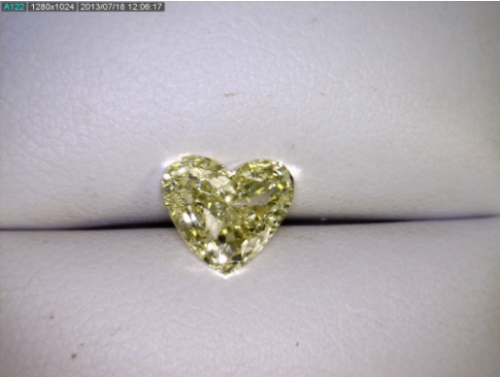 Fancy Yellow Heart Diamond