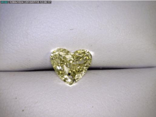Fancy Yellow Heart Diamond