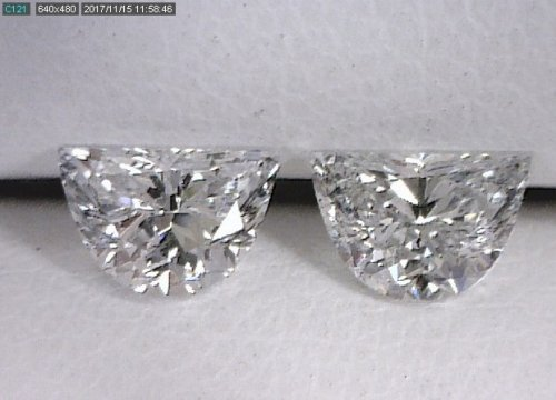 Half Moon Diamond Pair