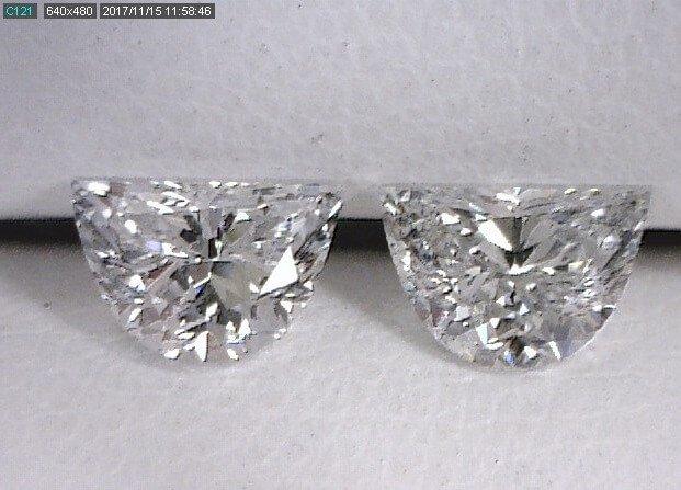 Half Moon Diamond Pair