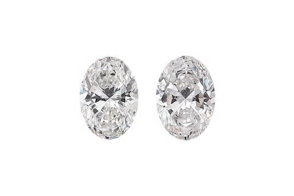 Oval Shape Diamond Pair