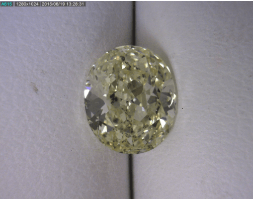 Oval Yellow Green Diamond