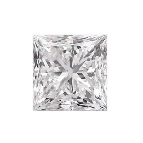 Princess Cut Diamond Sidestone