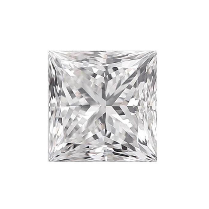 Princess Cut Diamond Sidestone