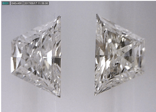 Trapezoid Diamond Cut Pair