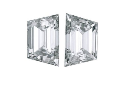 Trapezoid Step Cut Diamond Pair Copy