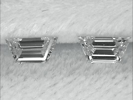 Trapezoid Step Cut Diamond Pair