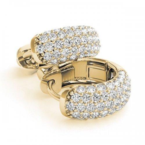 Multi-Row Diamond Hoop Earrings