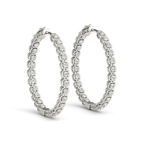Fancy Inside Out Diamond Hoop Earrings