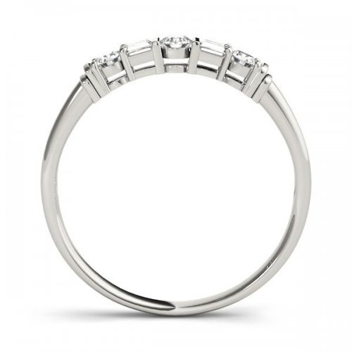 5 Stone Fancy Shape Diamond Wedding Band