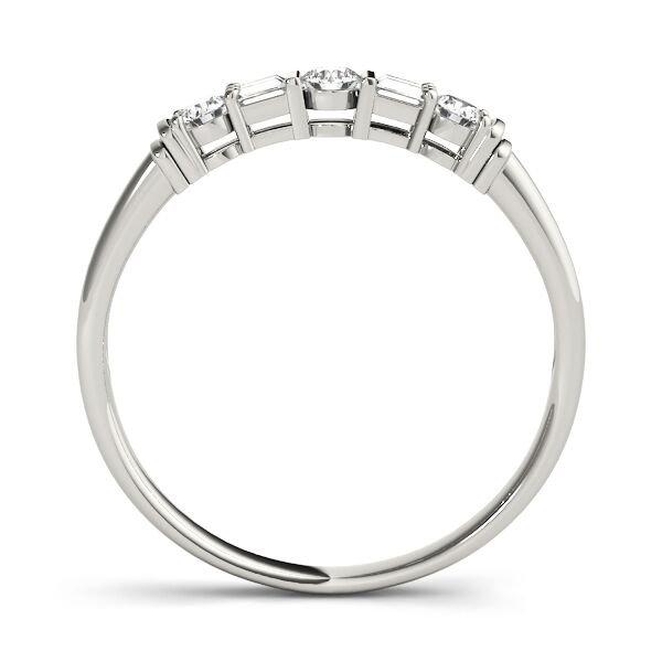5 Stone Fancy Shape Diamond Wedding Band