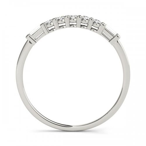 7 Stone Petite Fancy Diamond Wedding Ring