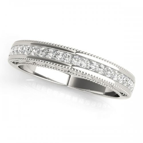 d8a4bfb7bc842 Buy 5 Stone Fancy Marquise/Round Brilliant Diamond Wedding Band in ...