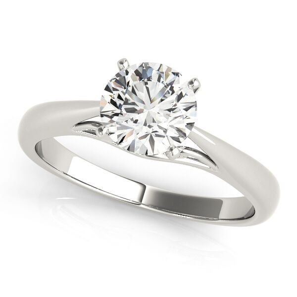 Four Prong Round Diamond Solitaire Engagement