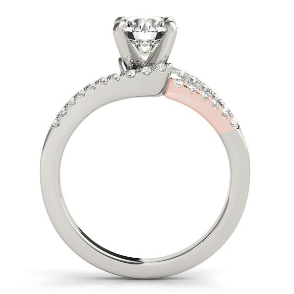 Split Shank Pave Diamond Engagement Ring
