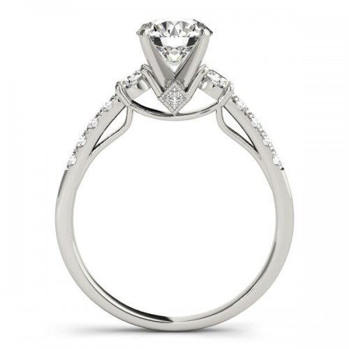 Four Prong Diamond Engagement