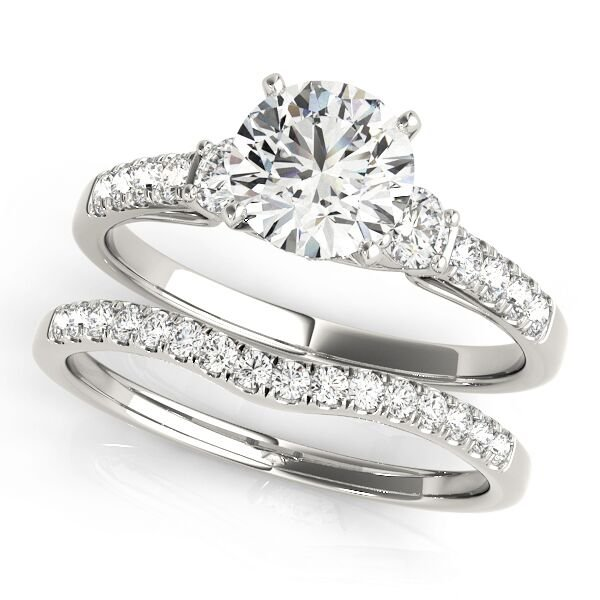 Four Prong Diamond Engagement Set