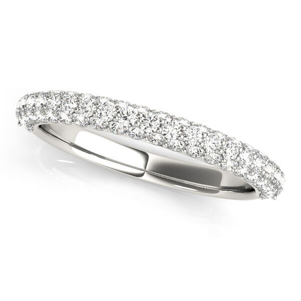 Double Row Pave Wedding Ring