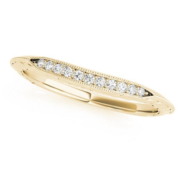 Knife Edge Heart Shaped Design Diamond Wedding Ring