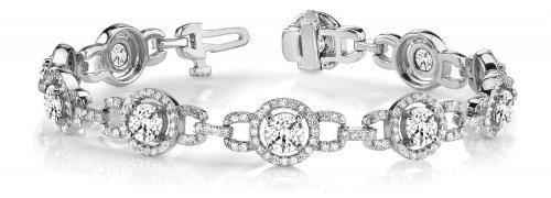 Vintage Style Round Multi Circle Diamond Bracelet