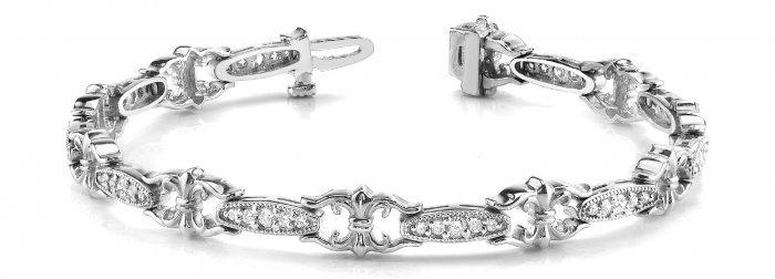 Fleur De Lis Diamond Bracelet