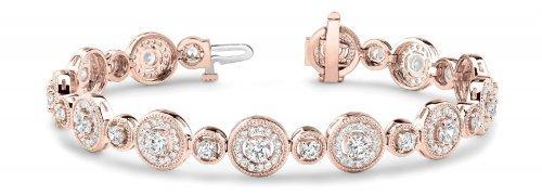 Multi Circle Diamond Bracelet