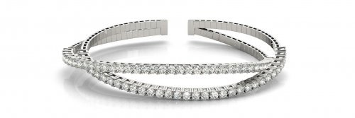 Criss Cross Bangle Diamond Bracelet