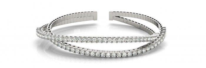 Criss Cross Bangle Diamond Bracelet