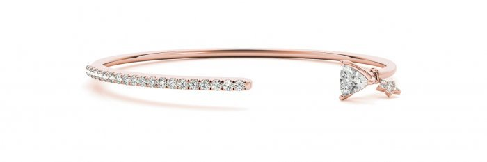 Trillion Diamond Bangle Bracelet