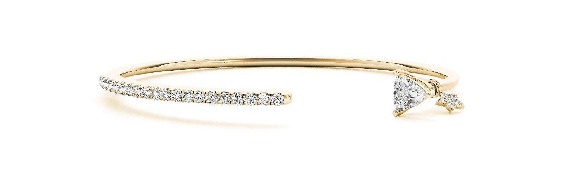 Trillion Diamond Bangle Bracelet