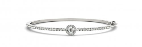 Halo Diamond Bangle Bracelet