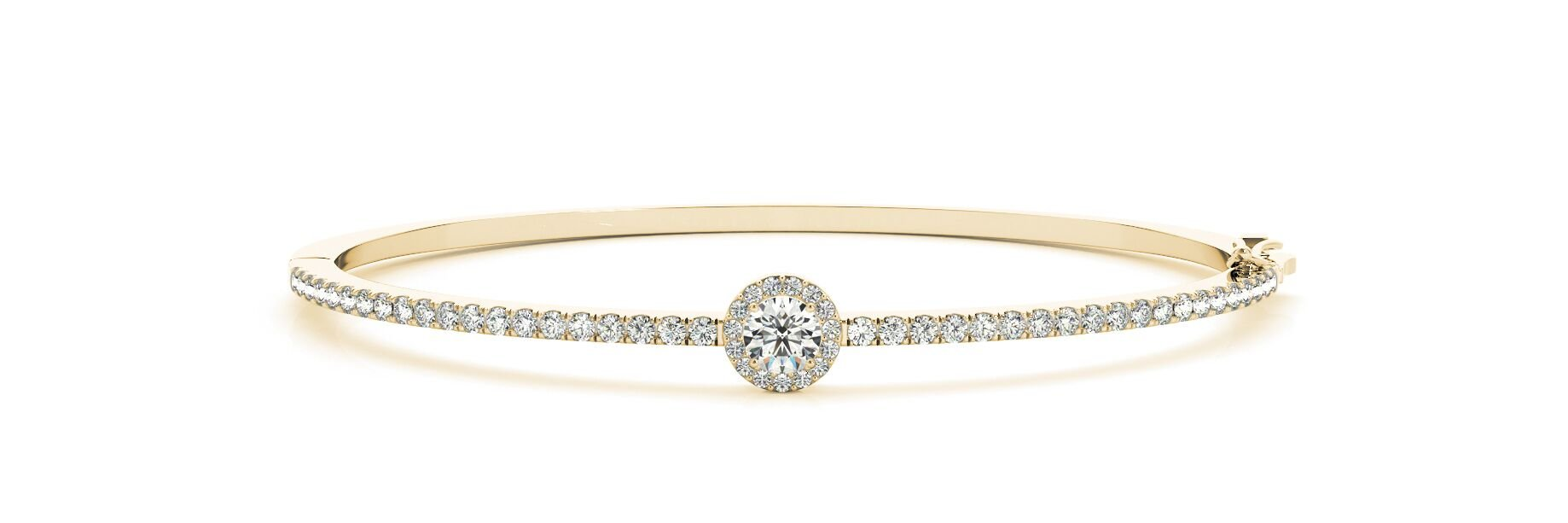 Halo Diamond Bangle Bracelet