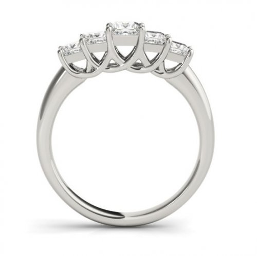 Five Stone Graduated Diamond Trellis Anniversary Ring